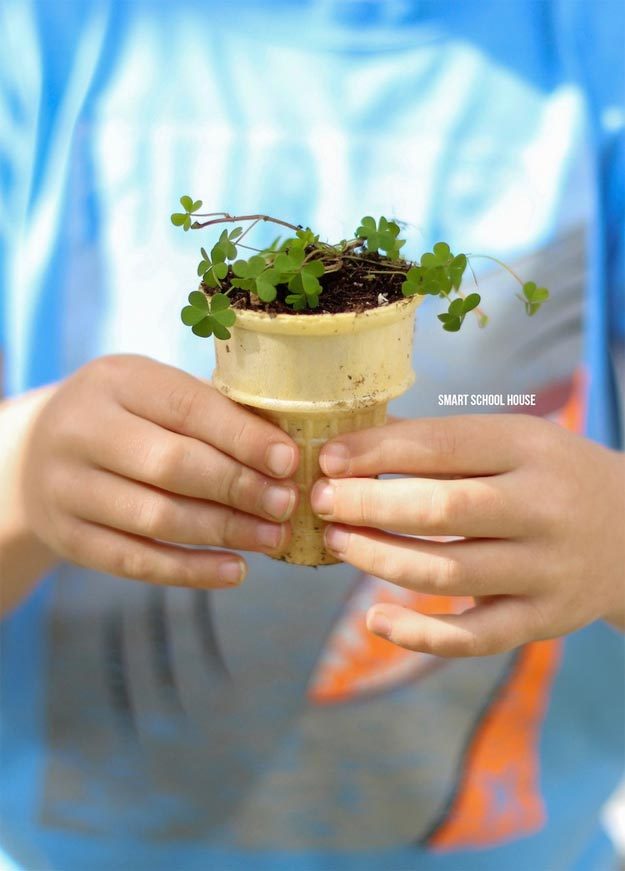 Dollar Store Crafts - DIY Ice Cream Cone Seedling Garden Tutorial - How to Make A Garden for Seedlings - Easy DIY Dollar Tree Crafts - Cheap DIY Projects for Teenagers, Room, Decor, and Gifts - Dollar Tree Crafts to Make and Sell, at Home - Handmade Craft Ideas to Sell with Instructions and Tutorials - Easy Teen Crafts #teencrafts #diyideas #dollarstorecrafts