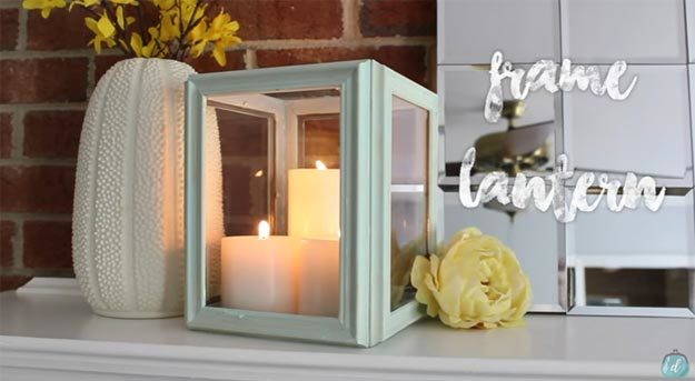 Dollar Store Crafts - DIY Dollar Tree Frame Lantern Tutorial - How to Make A Frame Lantern - Easy DIY Dollar Tree Crafts - Cheap DIY Projects for Teenagers, Room, Decor, and Gifts - Dollar Tree Crafts to Make and Sell, at Home - Handmade Craft Ideas to Sell with Instructions and Tutorials - Easy Teen Crafts #teencrafts #diyideas #dollarstorecrafts