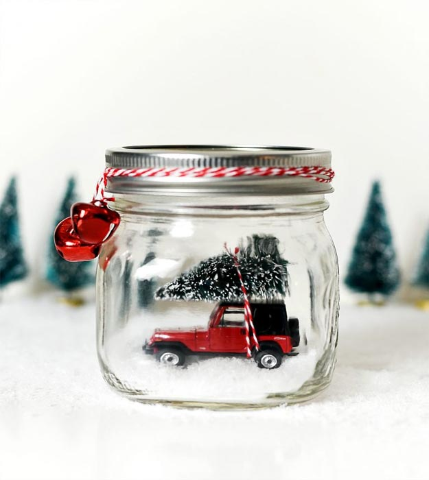 Dollar Store Crafts - DIY Vintage Jeep Wrangler Snow Globe Tutorial - How to Make A Snow Globe - Easy DIY Dollar Tree Crafts - Cheap DIY Projects for Teenagers, Room, Decor, and Gifts - Dollar Tree Crafts to Make and Sell, at Home - Handmade Craft Ideas to Sell with Instructions and Tutorials - Easy Teen Crafts #teencrafts #diyideas #dollarstorecrafts