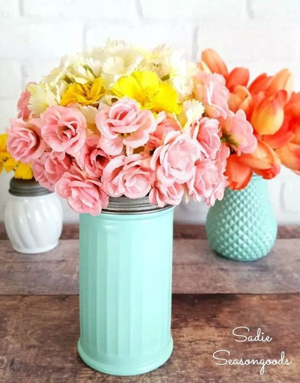 Dollar Store Crafts - DIY Salt and Sugar Shaker Vases Tutorial - How to Make A Vase from Salt And Sugar Shakers - Easy DIY Dollar Tree Crafts - Cheap DIY Projects for Teenagers, Room, Decor, and Gifts - Dollar Tree Crafts to Make and Sell, at Home - Handmade Craft Ideas to Sell with Instructions and Tutorials - Easy Teen Crafts #teencrafts #diyideas #dollarstorecrafts