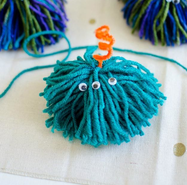Dollar Store Crafts - DIY Monster Buddies Tutorial - How to Make Monster Pom Poms - Easy DIY Dollar Tree Crafts - Cheap DIY Projects for Teenagers, Room, Decor, and Gifts - Dollar Tree Crafts to Make and Sell, at Home - Handmade Craft Ideas to Sell with Instructions and Tutorials - Easy Teen Crafts #teencrafts #diyideas #dollarstorecrafts