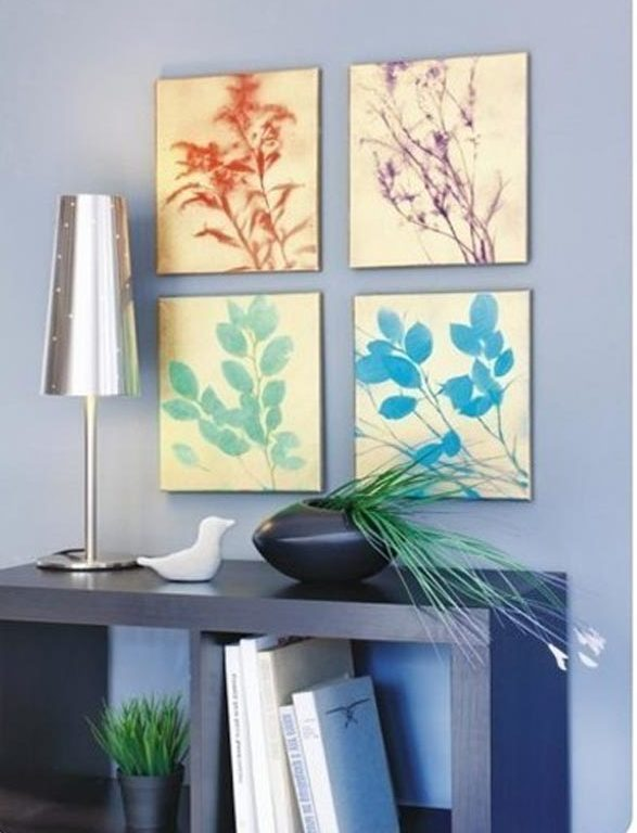 Dollar Store Crafts - DIY Spray Paint Leaf Silhouette Wall Art Tutorial - How to Make Wall Art With Spray Paint - Easy DIY Dollar Tree Crafts - Cheap DIY Projects for Teenagers, Room, Decor, and Gifts - Dollar Tree Crafts to Make and Sell, at Home - Handmade Craft Ideas to Sell with Instructions and Tutorials - Easy Teen Crafts #teencrafts #diyideas #dollarstorecrafts