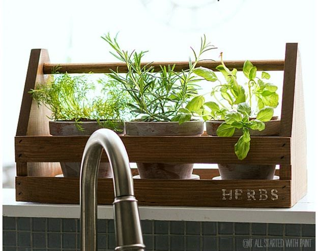 Dollar Store Crafts - DIY Rustic Toolbox Herb Planter Tutorial - How to Make An Herb Garden - Easy DIY Dollar Tree Crafts - Cheap DIY Projects for Teenagers, Room, Decor, and Gifts - Dollar Tree Crafts to Make and Sell, at Home - Handmade Craft Ideas to Sell with Instructions and Tutorials - Easy Teen Crafts #teencrafts #diyideas #dollarstorecrafts