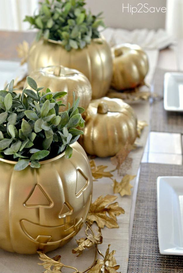 Dollar Store Crafts - DIY Gold Painted Pumpkin Tutorial - How to Make A Gold Painted Pumpkin - Easy DIY Dollar Tree Crafts - Cheap DIY Projects for Teenagers, Room, Decor, and Gifts - Dollar Tree Crafts to Make and Sell, at Home - Handmade Craft Ideas to Sell with Instructions and Tutorials - Easy Teen Crafts #teencrafts #diyideas #dollarstorecrafts