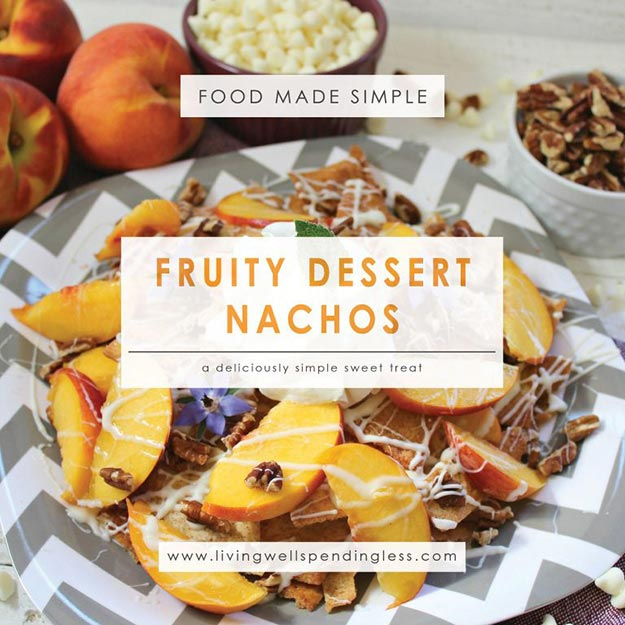 Easy Snacks and Recipes - Fruity Dessert Nachos - Quick Recipe Ideas and Simple Foood to Make In Minutes - Microwave, 3 Ingredients and No Bake Snack Tutorials - Healthy Ways for Snacking After School - Desserts, Sweet, Salty and Crunchy Ideas to Satisfy Your Cravings - Cheese, Vegetable, Mexican Food - Fun Ideas for Teens To Make At Home http://teencrafts.com/esy-snacks-recipes