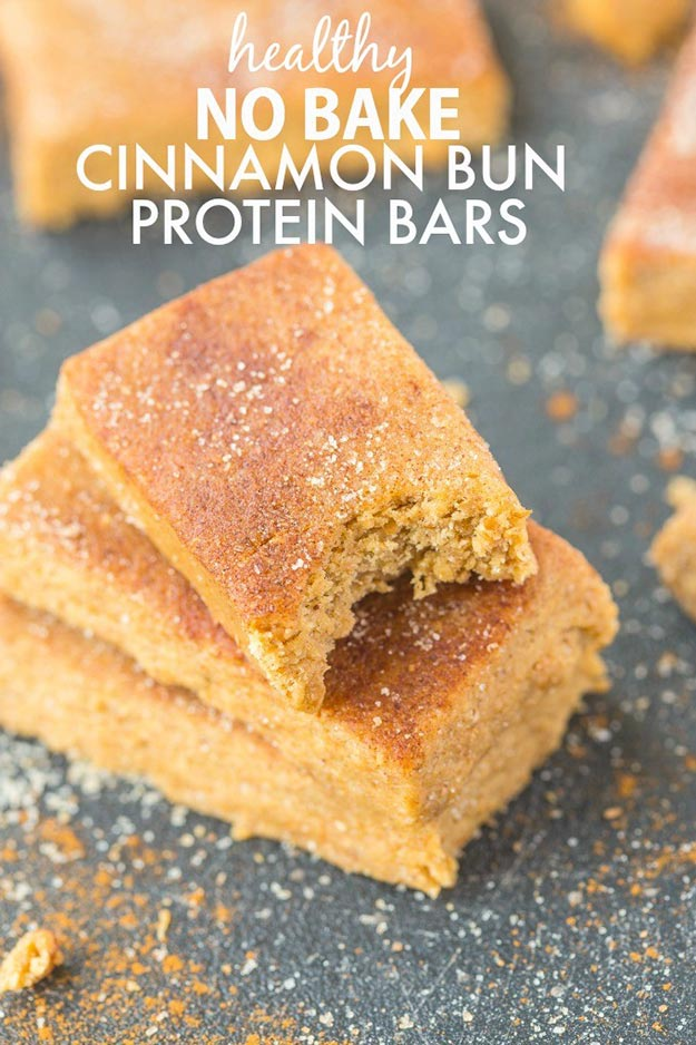 Easy Snacks and Recipes - Healthy No Bake Cinnamon Bun Protein Bars - Quick Recipe Ideas and Simple Foood to Make In Minutes - Microwave, 3 Ingredients and No Bake Snack Tutorials - Healthy Ways for Snacking After School - Desserts, Sweet, Salty and Crunchy Ideas to Satisfy Your Cravings - Cheese, Vegetable, Mexican Food - Fun Ideas for Teens To Make At Home http://teencrafts.com/esy-snacks-recipes