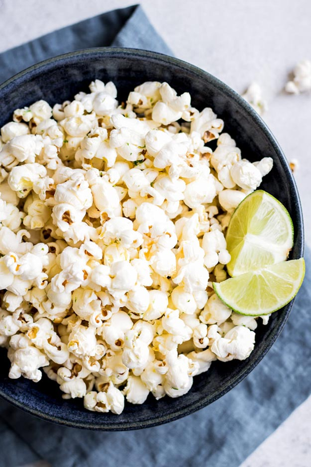Easy Snacks and Recipes - Salted Margarita Popcorn Recipe - Quick Recipe Ideas and Simple Food to Make In Minutes - Microwave, 3 Ingredients and No Bake Snack Tutorials - Healthy Ways for Snacking After School - Desserts, Sweet, Salty and Crunchy Ideas to Satisfy Your Cravings - Cheese, Vegetable, Mexican Food - Fun Ideas for Teens To Make At Home #teencrafts #diyideas #snackideas