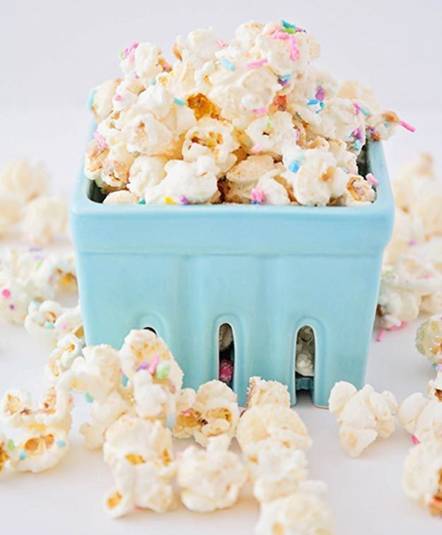 Cool and Easy Dessert Recipes For Teens to Make at Home - How to Make Birthday Cake Popcorn - Fun Desserts to Make With Chocolate, Fruit, Whipped Cream, Low Sugar, and Banana - Cake, Cookies, Pie, Ice Cream Shakes and Pops Made With Healthy Ingredients and Food You Love - Quick Recipe Ideas for No Bake and 5 Minute Dessert At Home #teencrafts #easyrecipes