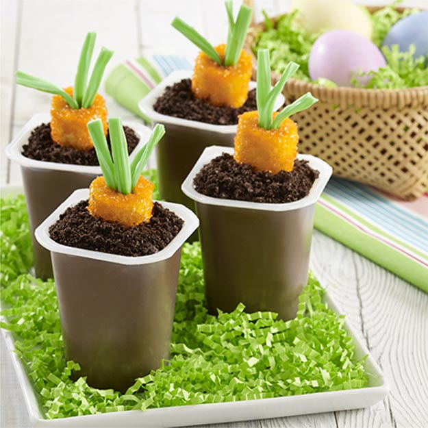 Cool and Easy Dessert Recipes For Teens to Make at Home - Carrot Patch Pudding Cups - Fun Desserts to Make With Chocolate, Fruit, Whipped Cream, Low Sugar, and Banana - Cake, Cookiess, Pie, Ice Cream Shakes and Pops Made With Healthy Ingredients and Food You Love - Quick Recipe Ideas for No Bake and 5 Minute Dessert At Home http://teencrafts.com/fun-dessert-ideas-recipes