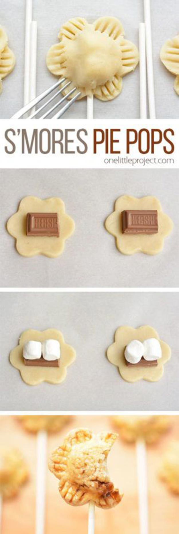 Cool and Easy Dessert Recipes For Teens to Make at Home - Flower Shaped S'more Pie Pops Recipe - Fun Desserts to Make With Chocolate, Fruit, Whipped Cream, Low Sugar, and Banana - Cake, Cookiess, Pie, Ice Cream Shakes and Pops Made With Healthy Ingredients and Food You Love - Quick Recipe Ideas for No Bake and 5 Minute Dessert At Home http://teencrafts.com/fun-dessert-ideas-recipes