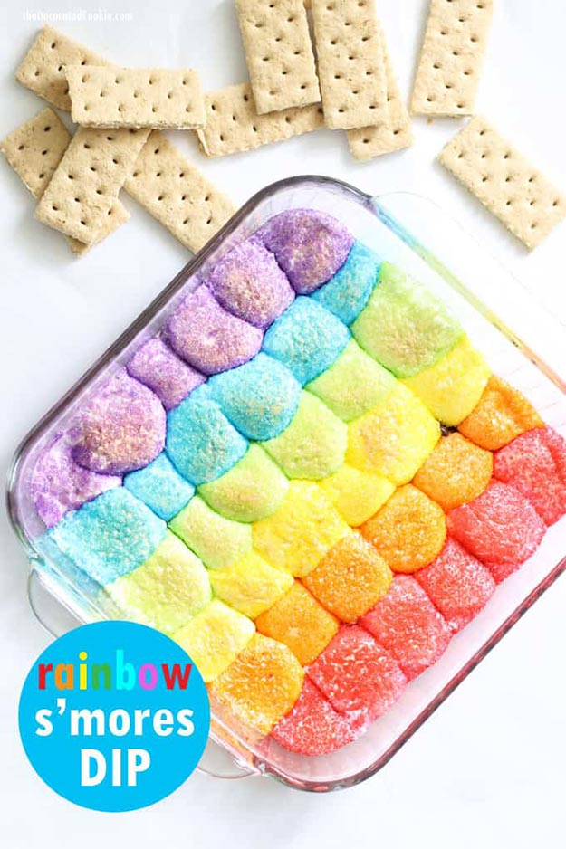 Cool and Easy Dessert Recipes For Teens to Make at Home - Rainbow S'mores Dip - Fun Desserts to Make With Chocolate, Fruit, Whipped Cream, Low Sugar, and Banana - Cake, Cookiess, Pie, Ice Cream Shakes and Pops Made With Healthy Ingredients and Food You Love - Quick Recipe Ideas for No Bake and 5 Minute Dessert At Home http://teencrafts.com/fun-dessert-ideas-recipes