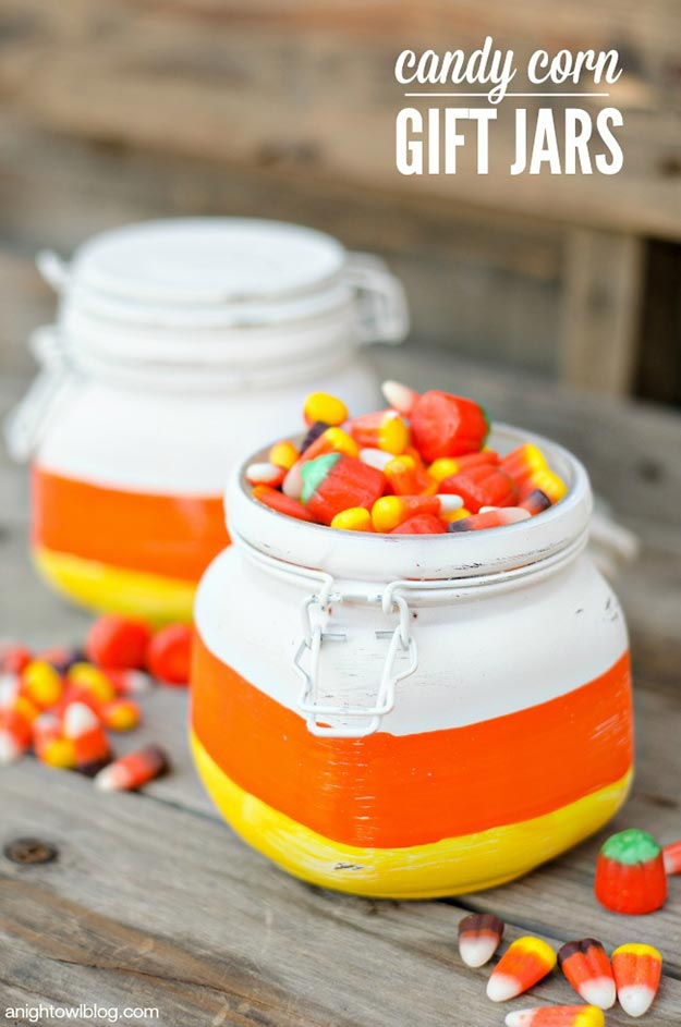 DIY Gifts for Teens and Adults - DIY Candy Corn Gift Jars - Creative Gifts in a Jar - Mason Jar Gifts for Friends, Boyfriend, Bestfriend, Brother, Dad - DIY Gift Ideas - Handmade Gift Ideas - Step by Step Craft Tutorials