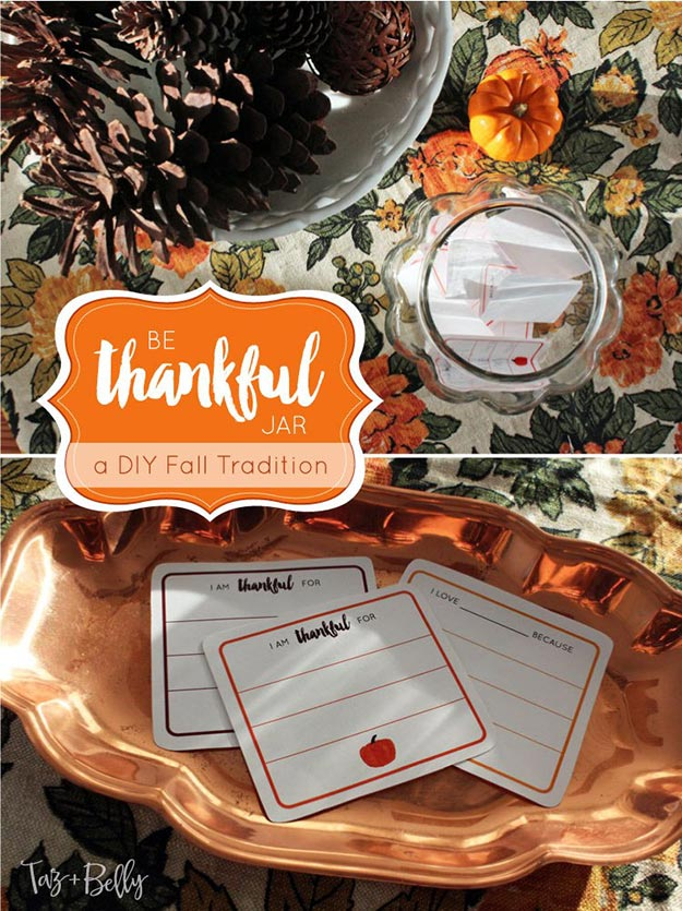 DIY Gifts for Teens and Adults - DIY Be Thankful Jar - Creative Gifts in a Jar - Mason Jar Gifts for Friends, Boyfriend, Bestfriend, Brother, Dad - DIY Gift Ideas - Handmade Gift Ideas - Step by Step Craft Tutorials