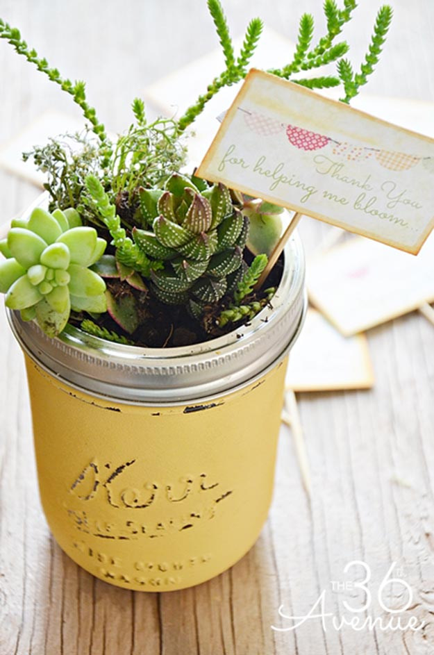 Gifts in A Jar Ideas, Recipes - DIY Garden In a Jar - Inexpensive Gifts You Can Make For Friends and Neighbors - Gift Jars for Christmas, Teachers - Cute Gift Ideas in Mason Jars - What to Put in Jar as A Gift - Cheap and Easy Gifts