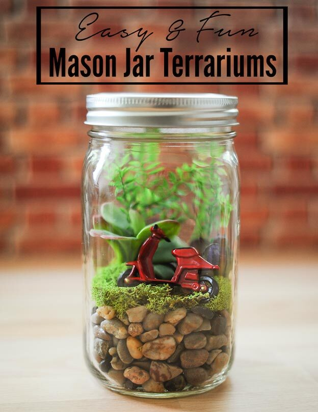 DIY Gifts for Teens and Adults - Easy Mason Jar Terrariums - Creative Gifts in a Jar - Mason Jar Gifts for Friends, Boyfriend, Bestfriend, Brother, Dad - DIY Gift Ideas - Handmade Gift Ideas - Step by Step Craft Tutorials