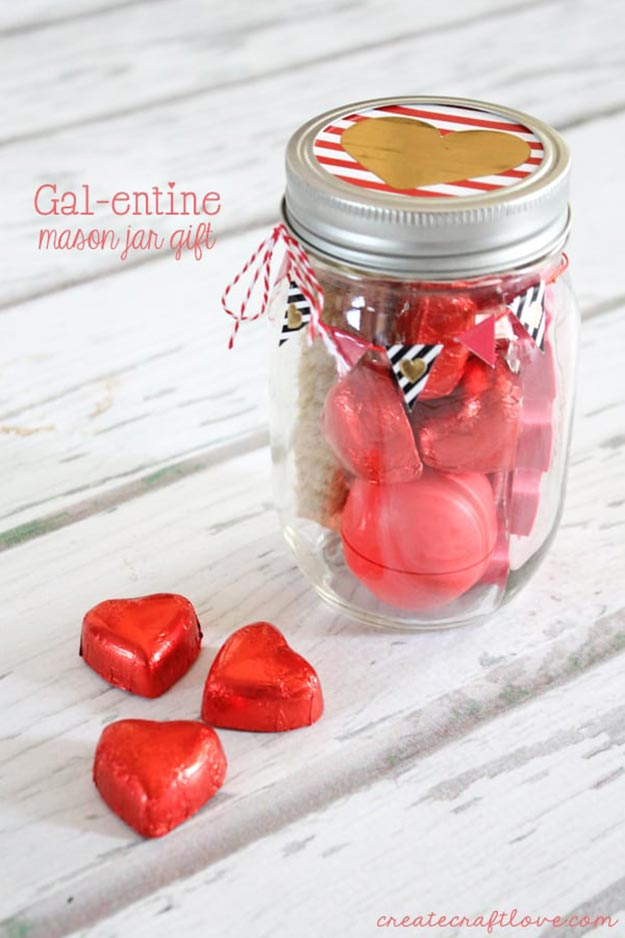 DIY Gifts for Teens and Adults - DIY Valentines Day Jar - Creative Gifts in a Jar - Mason Jar Gifts for Friends, Boyfriend, Bestfriend, Brother, Dad - DIY Gift Ideas - Handmade Gift Ideas - Step by Step Craft Tutorials