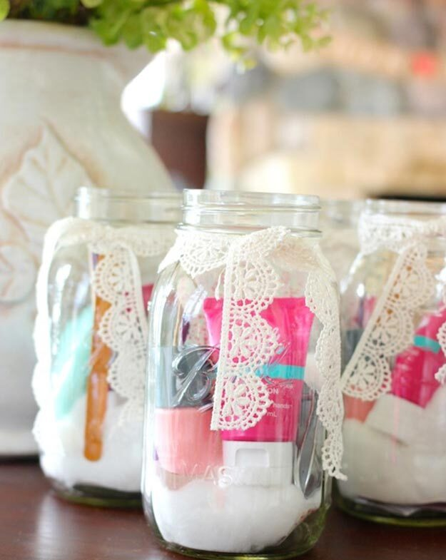 Gifts in A Jar Ideas, Recipes - DIY Manicure in A Jar Party Favors - Inexpensive Gifts You Can Make For Friends and Neighbors - Gift Jars for Christmas, Teachers - Cute Gift Ideas in Mason Jars - What to Put in Jar as A Gift - Cheap and Easy Gifts
