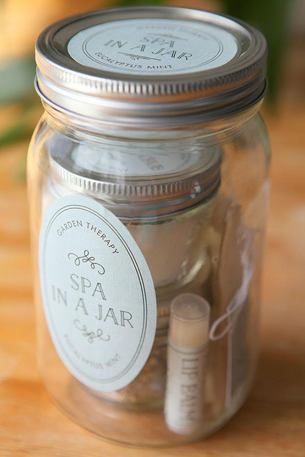 Gifts in A Jar Ideas, Recipes - DIY Spa In A Jar - Inexpensive Gifts You Can Make For Friends and Neighbors - Gift Jars for Christmas, Teachers - Cute Gift Ideas in Mason Jars - What to Put in Jar as A Gift - Cheap and Easy Gifts