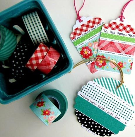 Washi Tape Crafts - DIY Washi Tape Gift Tags Tutorial - How to Make Washi Tape Gift Tags - Simple, Easy DIY Ideas To Make With Washi Tape - Organizers, Cute Gifts, Cheap Wall Art, Fun and Quick Things To Make For Friends - Cute Ideas for Teens, Adults, Kids and Tweens to Make at Home #teencrafts #diyideas #washitapecrafts