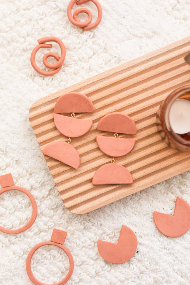DIY Boho Fashion Ideas - DIY Terra Cotta Earrings Tutorial - How to Make Clay Earrings - How to Make Your Own Boho Clothes, Sandals, Jewelry At Home - Boho Fashion Style - Cute DIY Boho Clothing, Clothes, Fashion - Homemade Bohemian Clothing #teencrafts #diyideas #diybohofashion #diybohoclothes