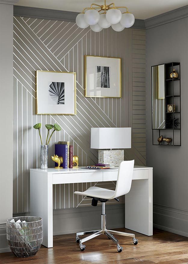 Painting Ideas for Room - DIY Linear Patterned Wallpaper Tutorial - How to Make Wallpaper - Easy Painting Ideas for Walls - Ways to Paint Walls - Wall Paint Inspiration - Teen Room Decor Ideas #teencrafts #paintwalls #diyideas