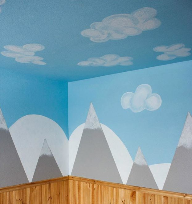Painting Ideas for Room - DIY Mountain Wall Tutorial - Easy Painting Ideas for Walls - Ways to Paint Walls - Wall Paint Inspiration - Teen Room Decor Ideas #teencrafts #paintwalls #diyideas