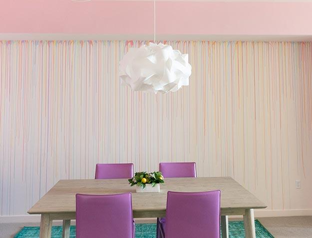 Painting Ideas for Room - DIY Rainbow Drip Wall - How to Paint A Rainbow Drip Wall - Easy Painting Ideas for Walls - Ways to Paint Walls - Wall Paint Inspiration - Teen Room Decor Ideas #teencrafts #paintwalls #diyideas