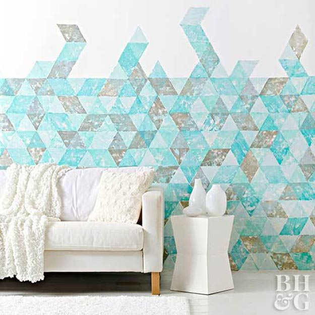 Painting Ideas for Room - DIY Wall Stamp Tutorial - DIY Wall Stamp - Easy Painting Ideas for Walls - Ways to Paint Walls - Wall Paint Inspiration - Teen Room Decor Ideas #teencrafts #paintwalls #diyideas