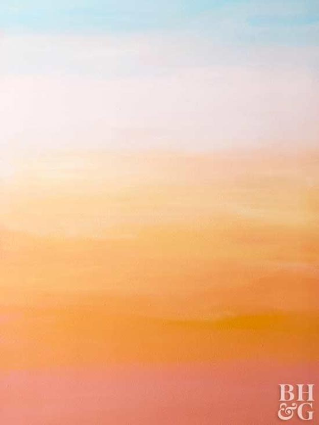 Painting Ideas for Room - DIY Sunset Inspired Wall - How to Paint a Sunset Inspired Wall - Easy Painting Ideas for Walls - Ways to Paint Walls - Wall Paint Inspiration - Teen Room Decor Ideas #teencrafts #paintwalls #diyideas
