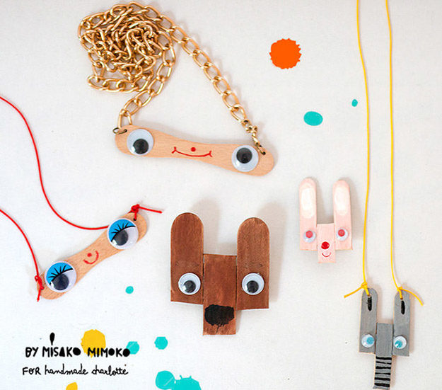DIY Ideas With Popsicle Sticks - Popsicle Stick Crafts - How to Make Popsicle Stick Jewelry - Ideas to Make With Cheap Craft Supplies - Easy and Cheap DIY Crafts for Kids to Make at Home - How to Make Crafts With Popsicle Sticks #teencrafts #diyideas #popsiclestickcrafts