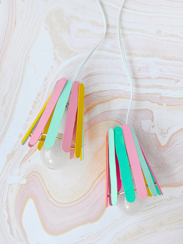 Creative DIY Crafts for Kids to Make at Home - Popsicle Stick Crafts Step by Step - How to Make Popsicle Stick Lamps - How to Make a Lamp out Of Popsicle Sticks - Cheap Craft Ideas for Boys, Girls, Teens - How to Make Popsicle Stick Crafts - Popsicle Stick Art - Easy Summertime Crafts #kidcrafts #diyprojects #popsiclestickcraftideas