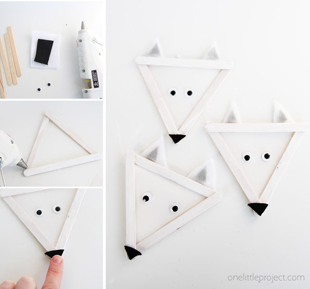 Popsicle Stick Crafts for Adults Step by Step - DIY Popsicle Stick Arctic Wolves Tutorial - Popsicle Stick Crafts for Kids, Adults, Teens, Kindergarteners - Cool, Useful Popsicle Stick Crafts - Cheap DIY Craft Ideas to Make and Sell - Dollar Store Craft Ideas - DIY Projects for Teens #teencraftideas #cheapcraftideas #diy