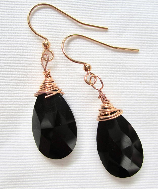 DIY Jewelry Ideas - DIY Crystal Teardrop Earrings Tutorial - How to Make Teardrop Earrings - How to Make Your Own Jewelry - Jewelry Making Ideas for Beginners - Handmade Craft Ideas to Sell with Step by Step Instructions  - Easy Teen Crafts #teencrafts #diyideas #diyjewelry