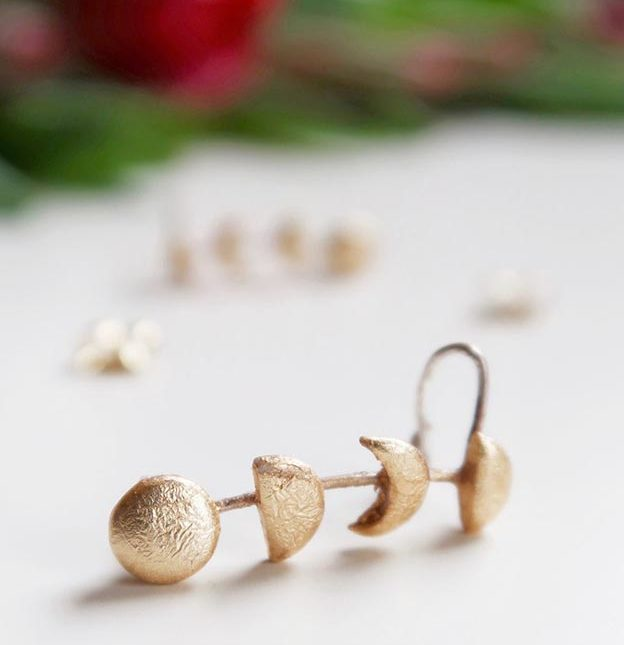 DIY Jewelry Ideas - DIY Clay Moon Phase Climber Earrings Tutorial - How to Make Climber Earrings - How to Make Your Own Jewelry - Jewelry Making Ideas for Beginners - Handmade Craft Ideas to Sell with Step by Step Instructions  - Easy Teen Crafts #teencrafts #diyideas #diyjewelry