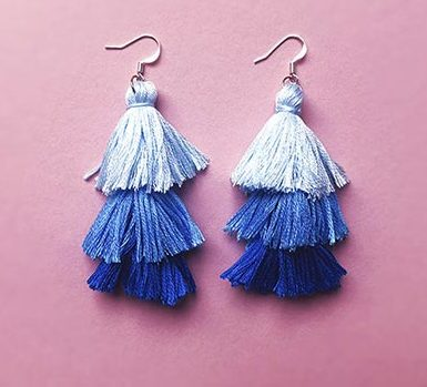 DIY Jewelry Ideas - DIY Gradient Tassel Earrings Tutorial - How to Make Tassel Earrings - How to Make Your Own Jewelry - Jewelry Making Ideas for Beginners - Handmade Craft Ideas to Sell with Step by Step Instructions - Easy Teen Crafts #teencrafts #diyideas #diyjewelry