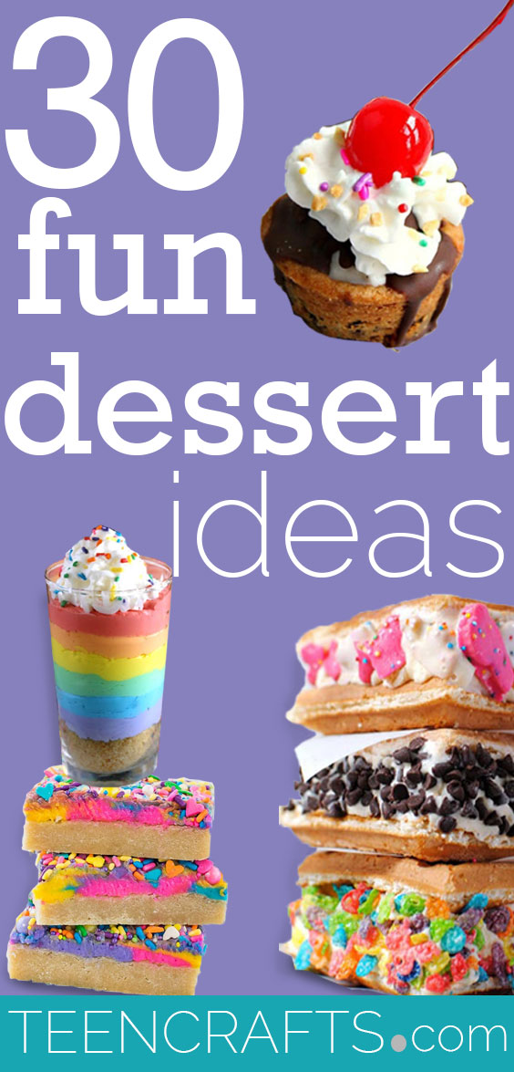 Fun Dessert Ideas - Easy Desserts for Parties - Cookies, Cupcakes and Sweet Snacks - Cute Foods for Teens and Parties