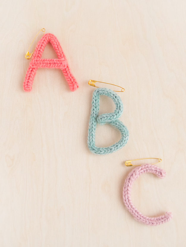 Cheap Crafts - DIY French Knit Monogram Brooch Tutorial - How to Make a Monogram Brooch - Inexpensive Craft Project Ideas for Teenagers, Teens and Adults - Easy DIY Ideas To Make On A Budget - Cool Dollar Store Crafts and Things You Can Make For Free - Homemade Wall Art and Room Decor, Gifts and Presents, Tutorials and Step by Step Instructions #teencrafts #cheapcrafts #diyideas