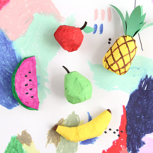 Cheap Crafts - DIY Paper Mache Fruit Ornaments - Paper Mache Projects - Inexpensive Craft Project Ideas for Teenagers, Teens and Adults - Easy DIY Ideas To Make On A Budget - Cool Dollar Store Crafts and Things You Can Make For Free - Homemade Wall Art and Room Decor, Gifts and Presents, Tutorials and Step by Step Instructions #teencrafts #cheapcrafts #diyideas