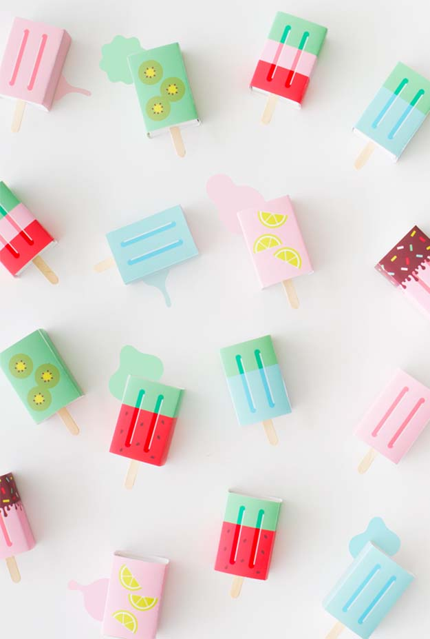 Cheap Crafts - DIY Popsicle Favor Box Tutorial - Cute DIY Favor Box Ideas - Inexpensive Craft Project Ideas for Teenagers, Teens and Adults - Easy DIY Ideas To Make On A Budget - Cool Dollar Store Crafts and Things You Can Make For Free - Homemade Wall Art and Room Decor, Gifts and Presents, Tutorials and Step by Step Instructions #teencrafts #cheapcrafts #diyideas