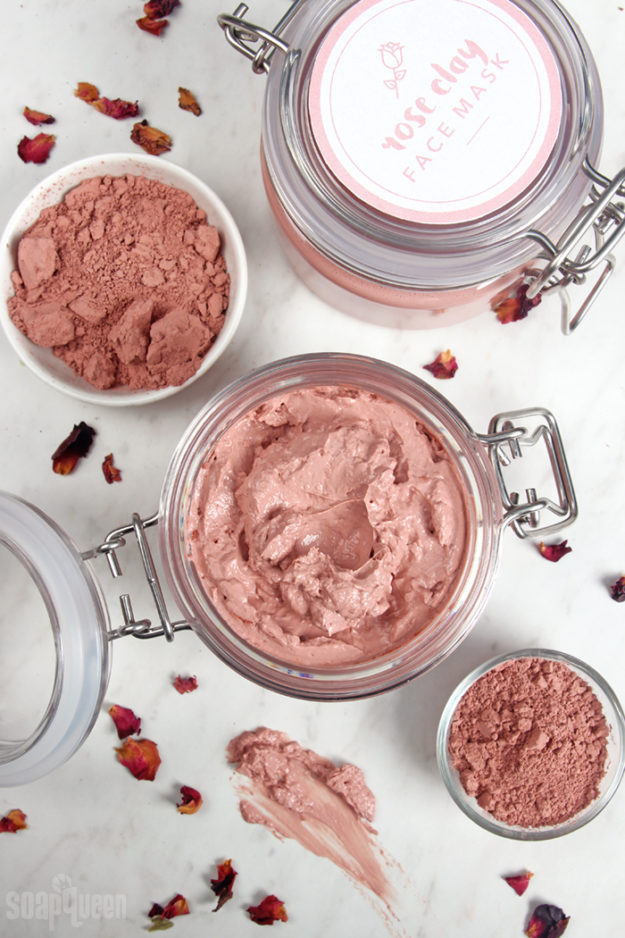 Lush Copycat Recipes - DIY Rose Clay Face Mask Recipe - Easy Homemade Face Masks - DIY Lush Inspired Copycats and Dupes - How to Make Do It Yourself Lush Products like Homemade Bath Bombs, Face Masks, Lip Scrub, Bubble Bars, Dry Shampoo and Hair Conditioner, Shower Jelly, Lotion, Soap, Toner and Moisturizer. Tutorials Inspired by Ocean Salt, Buffy, Dark Angels, Rub Rub Rub, Big, Dream Cream and More - Teens and Teenager Crafts #teencrafts #lush #diyideas