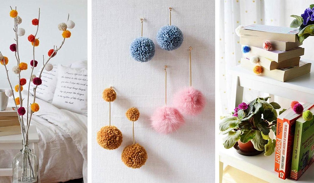 34 Adorable Pompom Craft Ideas