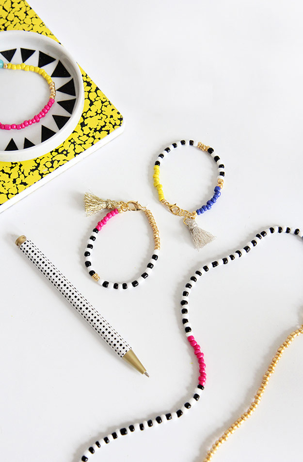 DIY Ideas for Summer - DIY Beaded Tassel Jewelry Tutorial - How to Make Beaded Jewelry - Cute Summery Crafts to Make and Sell - DIY Summer Crafts, Projects, Decor for Kids, Tweens, Teens, Adults, Seniors - Ideas to Make for Lake, Pool, Outdoors - Creative Things to Make for Summertime - Teen Crafts and DIY Projects #teencrafts #diyideas #craftideasforsummer