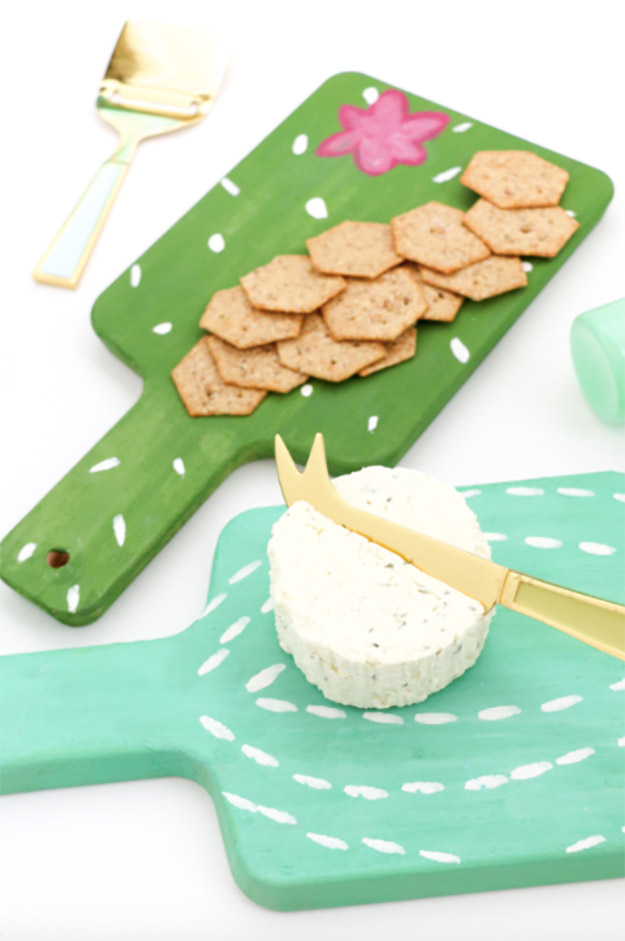 DIY Ideas for Summer - DIY Mini Cactus Cheese Boards Tutorial - How to Make Cheese Boards - Cute Summery Crafts to Make and Sell - DIY Summer Crafts, Projects, Decor for Kids, Tweens, Teens, Adults, Seniors - Ideas to Make for Lake, Pool, Outdoors - Creative Things to Make for Summertime - Teen Crafts and DIY Projects #teencrafts #diyideas #craftideasforsummer