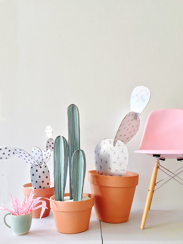 DIY Ideas for Summer - DIY Cardboard Cacti Tutorial - How to Make Cardboard Cacti - Cute Summery Crafts to Make and Sell - DIY Summer Crafts, Projects, Decor for Kids, Tweens, Teens, Adults, Seniors - Ideas to Make for Lake, Pool, Outdoors - Creative Things to Make for Summertime - Teen Crafts and DIY Projects #teencrafts #diyideas #craftideasforsummer