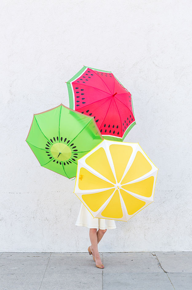 DIY Ideas for Summer - DIY Fruit Slice Umbrellas Tutorial - How to Make Cute Umbrellas - Cute Summery Crafts to Make and Sell - DIY Summer Crafts, Projects, Decor for Kids, Tweens, Teens, Adults, Seniors - Ideas to Make for Lake, Pool, Outdoors - Creative Things to Make for Summertime - Teen Crafts and DIY Projects #teencrafts #diyideas #craftideasforsummer