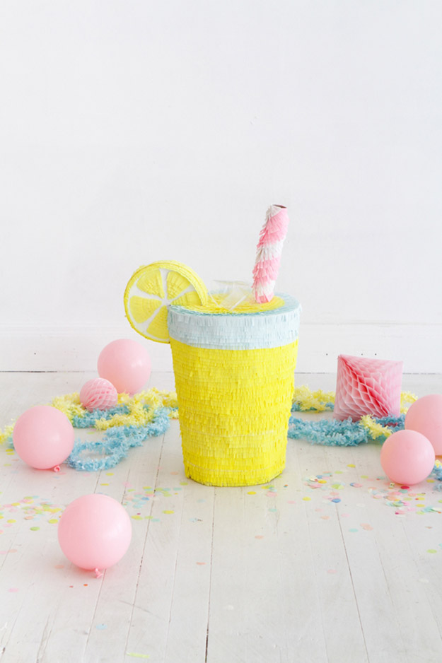 DIY Ideas for Summer - DIY Lemonade Pinata Tutorial - How to Make A Cute Pinata - Cute Summery Crafts to Make and Sell - DIY Summer Crafts, Projects, Decor for Kids, Tweens, Teens, Adults, Seniors - Ideas to Make for Lake, Pool, Outdoors - Creative Things to Make for Summertime - Teen Crafts and DIY Projects #teencrafts #diyideas #craftideasforsummer