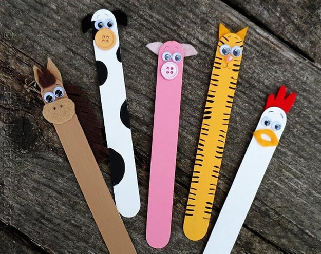 DIY Ideas With Popsicle Sticks - Popsicle Stick Crafts - DIY Popsicle Stick Farm Animals Tutorial - Ideas to Make With Cheap Craft Supplies - Easy and Cheap DIY Crafts for Kids to Make at Home - How to Make Crafts With Popsicle Sticks #teencrafts #diyideas #popsiclestickcrafts