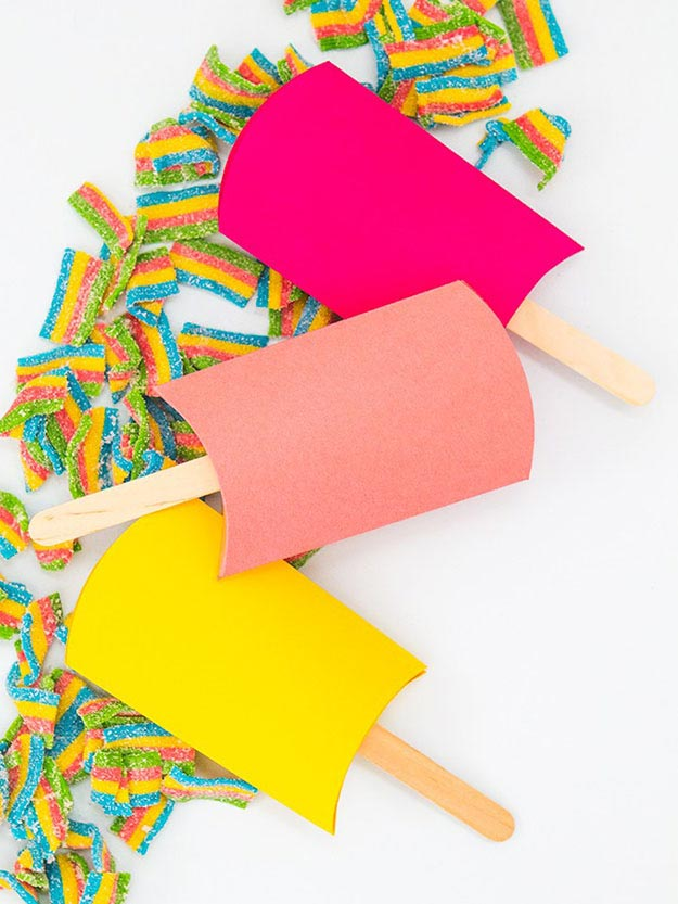 DIY Ideas With Popsicle Sticks - Popsicle Stick Crafts - DIY Popsicle Stick Party Favor Boxes Tutorial - Ideas to Make With Cheap Craft Supplies - Easy and Cheap DIY Crafts for Kids to Make at Home - How to Make Crafts With Popsicle Sticks #teencrafts #diyideas #popsiclestickcrafts