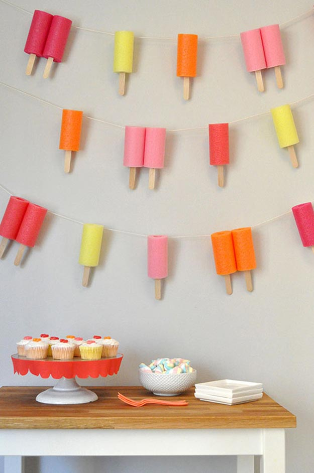 DIY Ideas With Popsicle Sticks - Popsicle Stick Crafts - DIY Popsicle Garland Tutorial - Ideas to Make With Cheap Craft Supplies - Easy and Cheap DIY Crafts for Kids to Make at Home - How to Make Crafts With Popsicle Sticks #teencrafts #diyideas #popsiclestickcrafts
