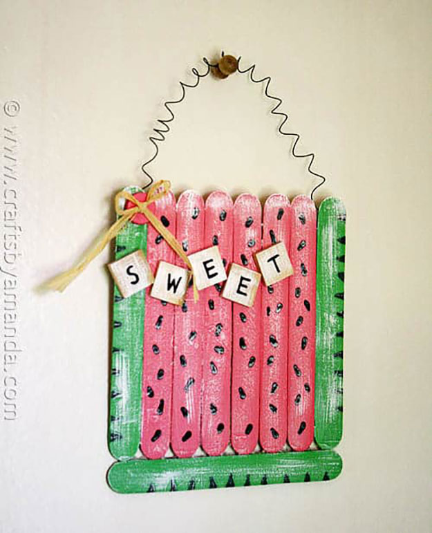 Popsicle Stick Crafts for Adults Step by Step - How to Make Popsicle Stick Wall Art - DIY Popsicle Stick Wall Art Tutorial - Popsicle Stick Crafts for Kids, Adults, Teens, Kindergarteners - Cool, Useful Popsicle Stick Crafts - Cheap DIY Craft Ideas to Make and Sell - Dollar Store Craft Ideas - DIY Projects for Teens #teencraftideas #cheapcraftideas #diy